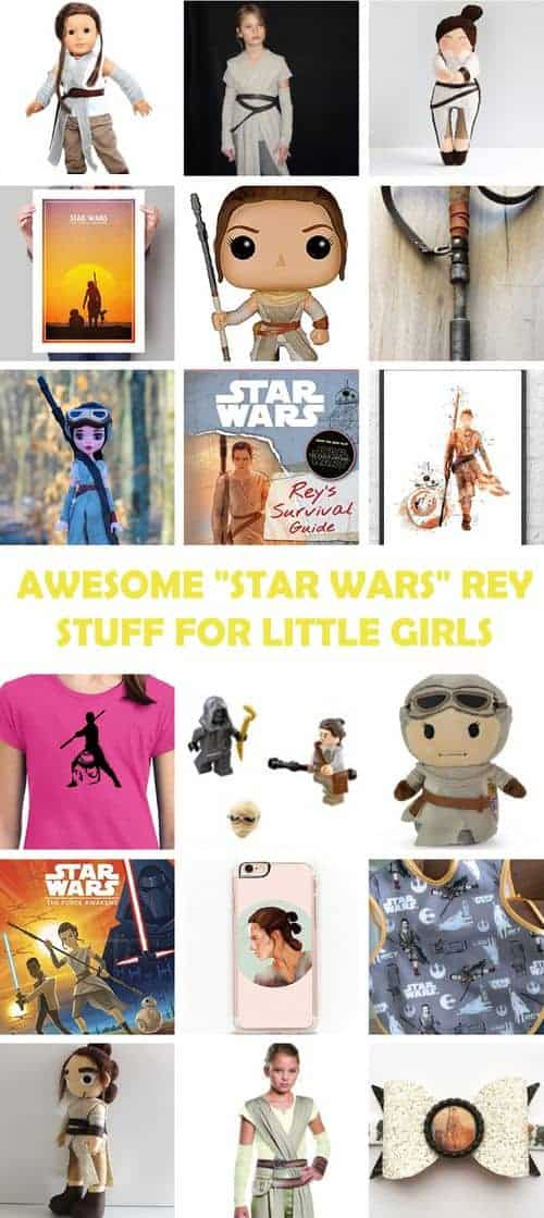 Awesome Star Wars Rey Stuff for Little Girls #starwars #theforceawakens #rey #girlpower #GirlsLoveSuperheroesToo
