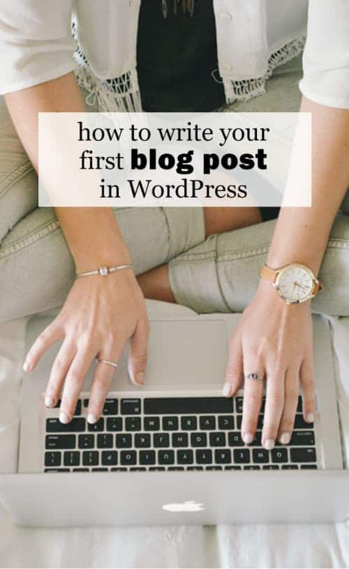 How to Write Your First Blog Post in WordPress :: I'm here to show you how to write your first blog post in WordPress!