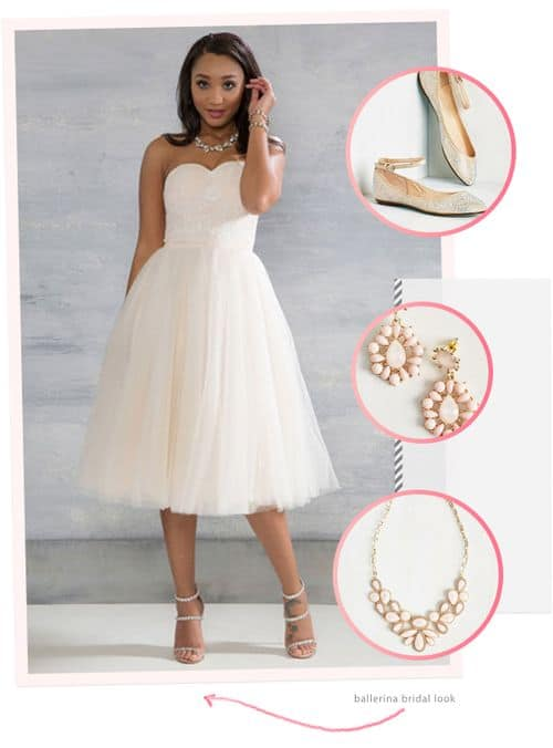 Awesome and Affordable Dresses and Accessories from the New ModCloth Wedding Line: Ballerina Bridal Look #bride #weddinggown #bridalgown #wedding dress