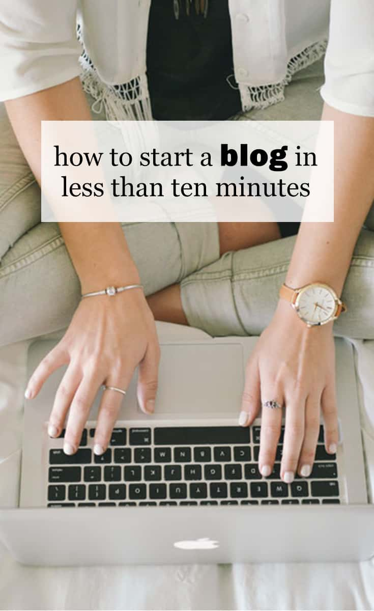 How To Start A Blog In Less Than Ten Minutes :: In this post, I am going to show you how to start a blog in four easy steps - get a domain name, get a host for your blog, install WordPress, and choose a theme. So let's get going and I'll show you how to start a blog in less than ten minutes!