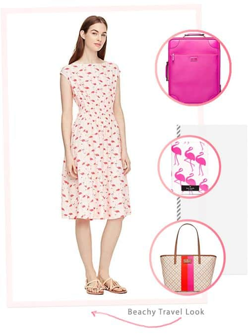 Awesome and Affordable Dresses and Accessories from the kate spade Surprise Sale: Beachy Travel Look #fashion #outfit #ootd