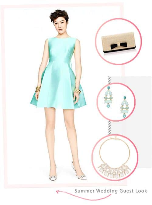 Awesome and Affordable Dresses and Accessories from the kate spade Surprise Sale: Summer Wedding Guest Look #fashion #outfit #ootd
