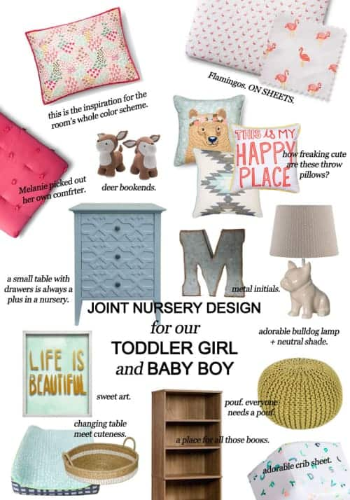 The Joint Nursery Design For Our Toddler Girl and Baby Boy #homedecor #decorating #baby #toddler #nursery