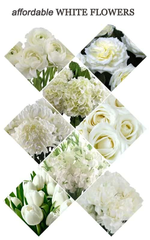 Affordable White Flowers for Your Wedding #ceremony #reception