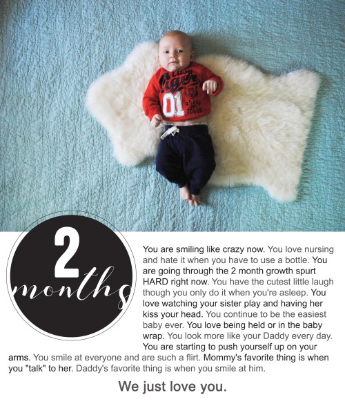 Finnegan's First Year Photo Project : Two Months