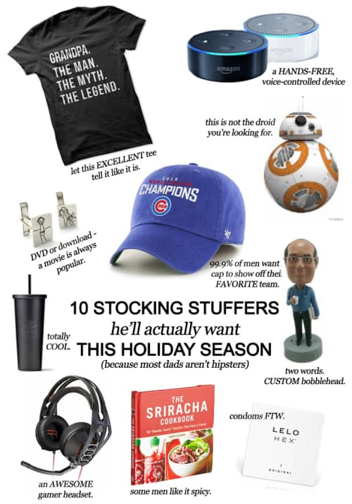 10 Stocking Stuffers He'll Actually Want This Holiday Season (Because Most Men Aren't Hipsters) #christmas #giftguide #men #shopping