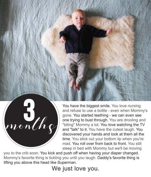 Finnegan's First Year Photo Project : Three Months