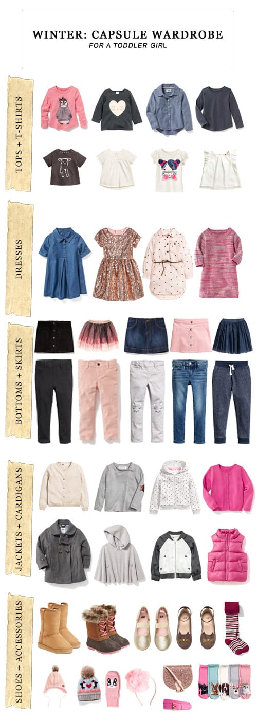 Winter Capsule Wardrobe for a Toddler Girl #fashion #toddler #toddlerstyle #toddlerfashion #capsulewardrobe