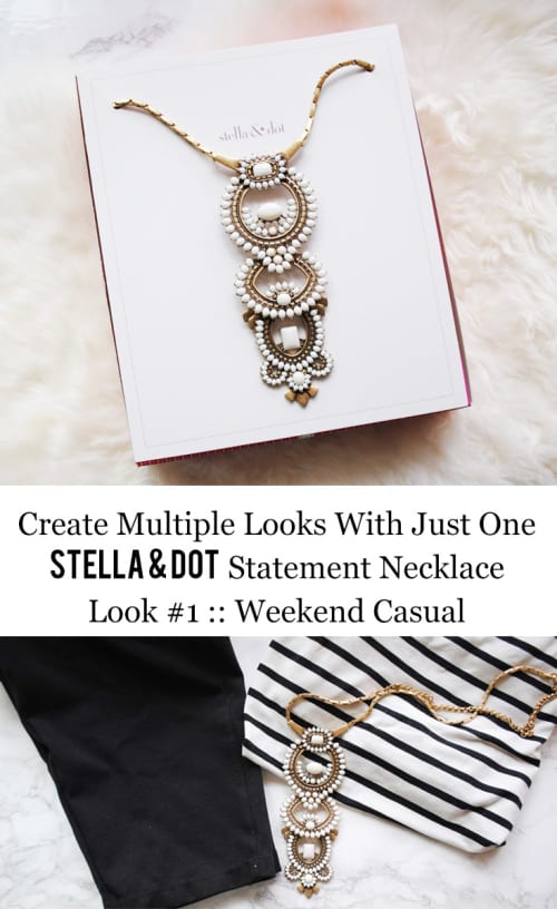 Stella & Dot Creating Multiple Looks With Just One Statement Necklace Look #1 :: Weekend Casual