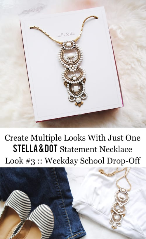 Stella & Dot Creating Multiple Looks With Just One Statement Necklace Look #3 :: Weekday School Drop Off
