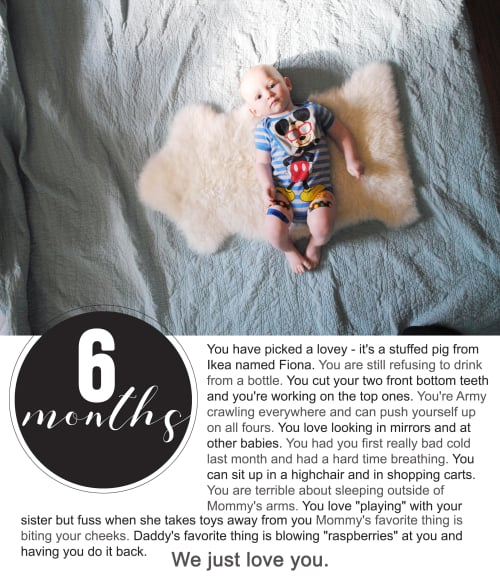 Finnegan's First Year Photo Project : Six Months