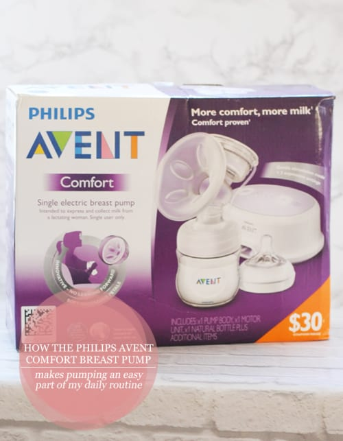 How the Philips Avent Comfort Breast Pump Makes Pumping An Easy Part Of My Daily Routine #ad #AventMoms