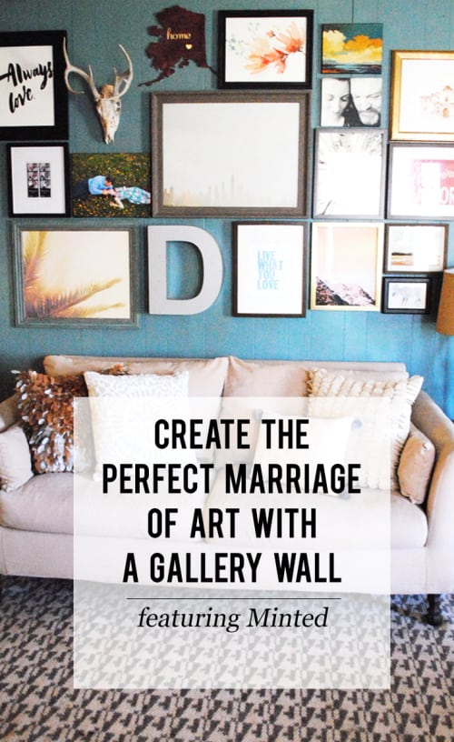San Antonio lifestyle blogger, Cris Stone, shares how to create the perfect marriage of art with a gallery wall featuring Minted! Find out more!