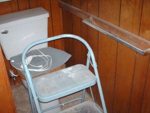 Master Bathroom Toilet Before