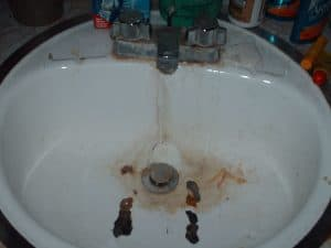 Master Bathroom Sink Before