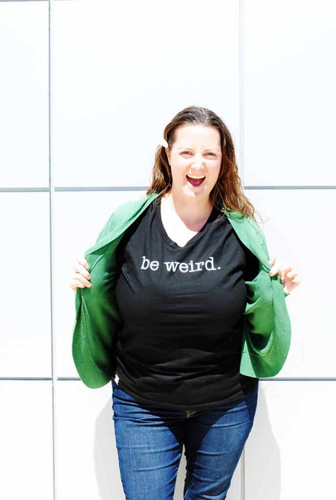 Be Weird. Be You. In this shirt from @centsofstyle #ad #centsofstyle