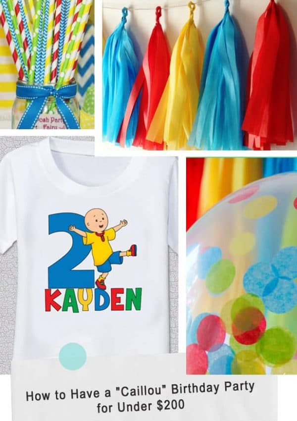 "How to Have a ""Caillou"" Birthday Party for Under $200"