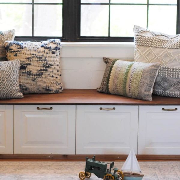 How To Build a Banquette in Your Kitchen (featuring Magnolia Home at Pier 1)