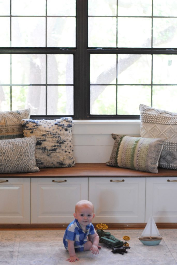 How To Build a Banquette in Your Kitchen featuring Magnolia Home at @Pier1 #ad #pier1love #farmhousestyle #fixerupper #magnoliahome