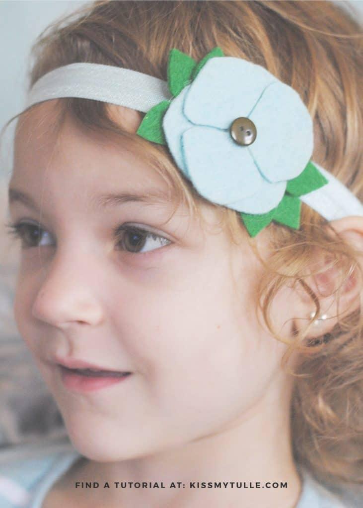 Cute Felt Floral Headband that I Made with my @OfficialCricut #ad #DIY #handmade #Cricut #CricutMade