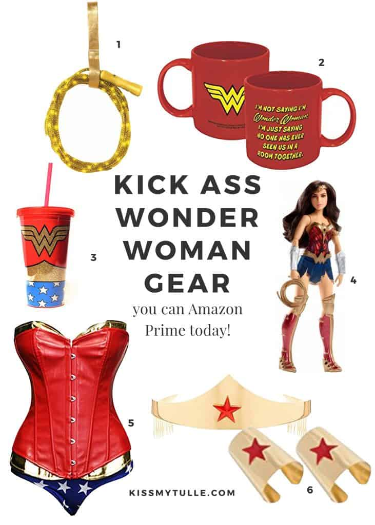 Kick Ass Wonder Woman Gear you can Amazon Prime Today