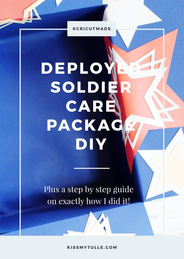 When my nephew-in-law was deployed, Melanie and I loved sending him fun care packages that we decorated using my trusty #CricutMaker. Find out more!