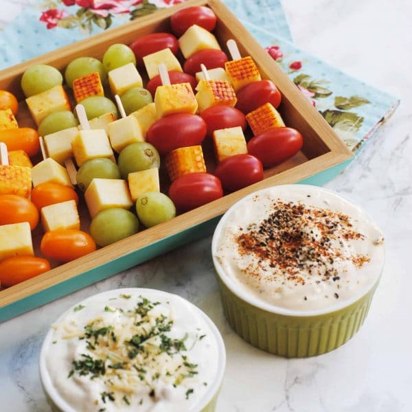Enjoy Labor Day with Tasty Skewers and Heluva Good! Dip