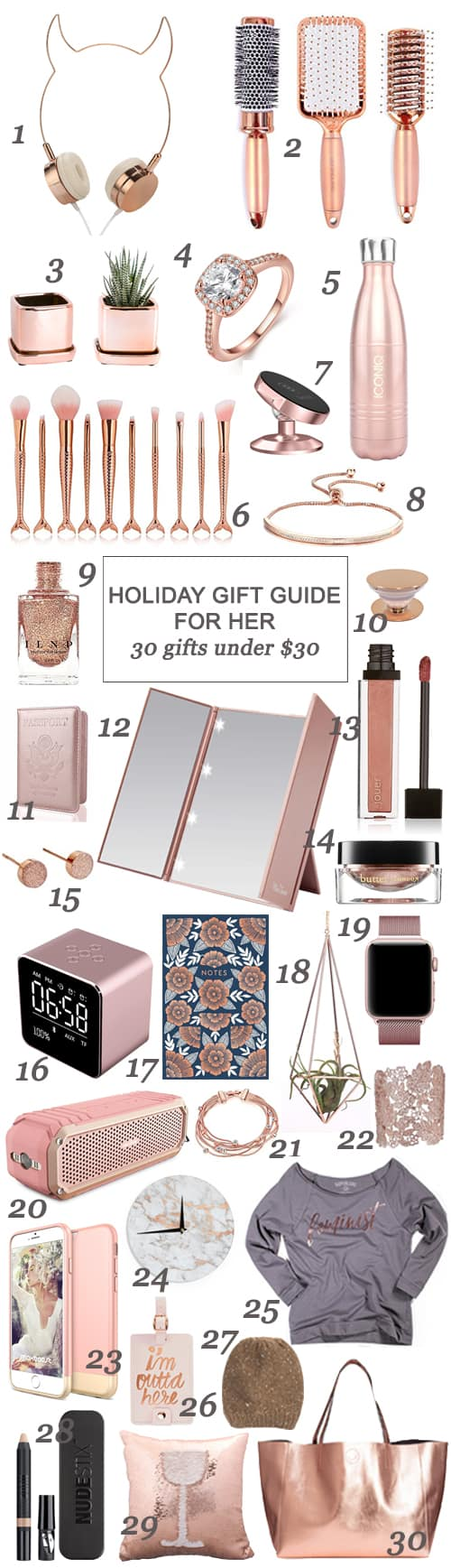 San Antonio lifestyle blogger, Cris Stone, has gathered up a fab collection of options for your sister, bestie, niece, mom, and general gal pals - all for under $30!