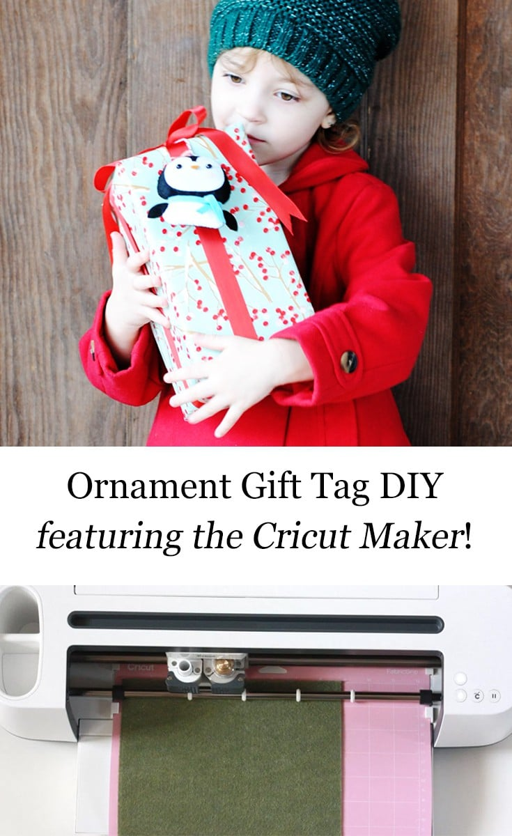 These adorable felt ornaments in Design Space need to be on everyone's gifts this year! Ornaments that double as gift tags? Here's the DIY tutorial.