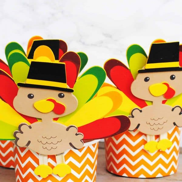 Turkey Candy Favors for the Kid's Table