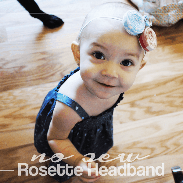 DIY: No Sew Rosette Headband in Red, White, and Blue
