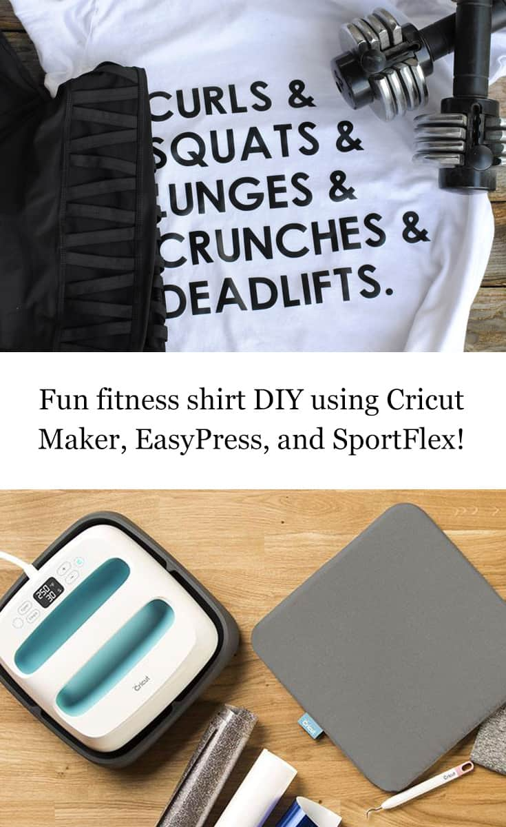 Alaskan lifestyle blogger, Kiss My Tulle, whipped up thisfun fitness T-shirt with herCricut Maker to try and motivate herself to workout more regularly.