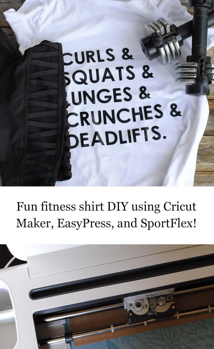 #DIY Fun Fitness T-Shirt featuring @Cricut #CricutStrongBond #CricutMade #Cricut #ad