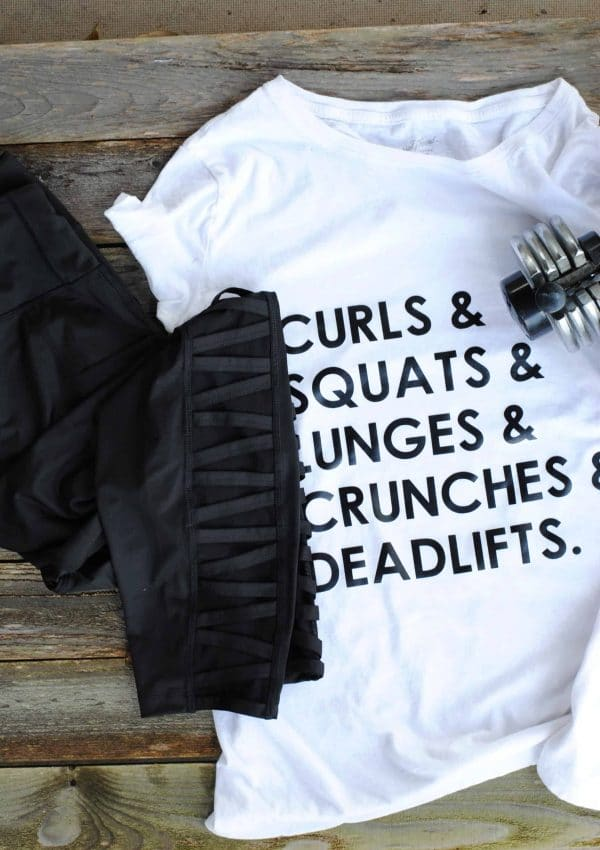 DIY: Fun Fitness T-Shirt featuring Cricut