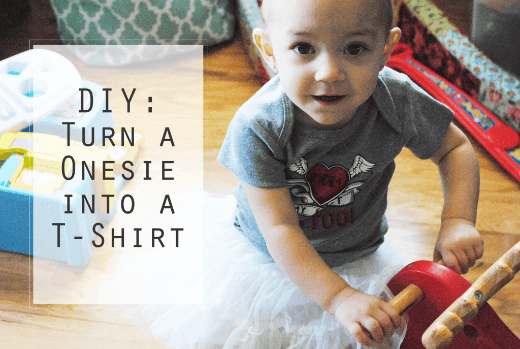 San Antonio lifestyle blogger, Cris Stone, shows you how to turn a onesie into a T-shirt! Find out more!