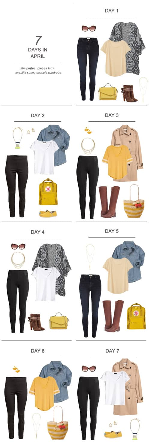 7 Days in April : The Perfect Pieces for a Versatile Summer Capsule Wardrobe #ootd #April #spring #capsulewardrobe #sahm