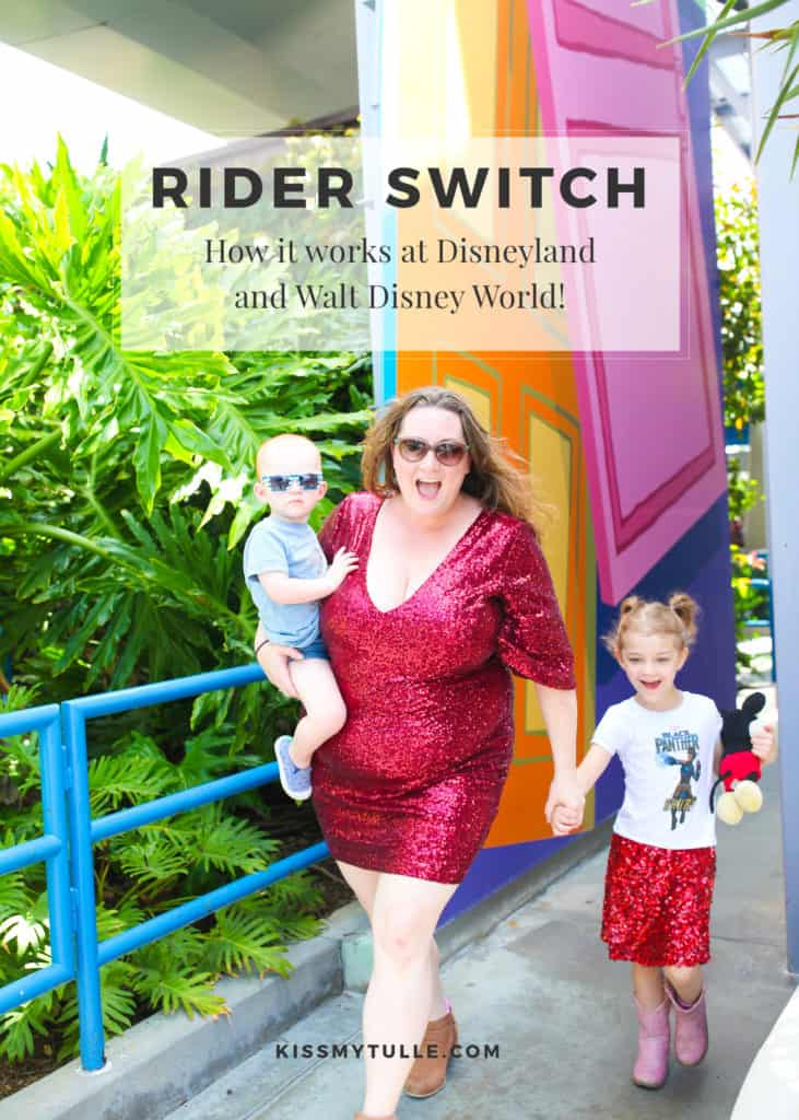 Texas Mom Blogger, Kiss My Tulle, is sharing how her family does #RiderSwitch while at #Disney. Rider Switch is a fantastic way to get the most bang for your #Disney buck. And, for those wondering, here's how #Disneyland and #WaltDisneyWorld's Rider Switch works! #CDC #tmom #travel