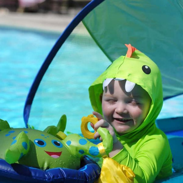 The SwimWays Baby Spring Float Activity Center is Perfect for Hotel Stays