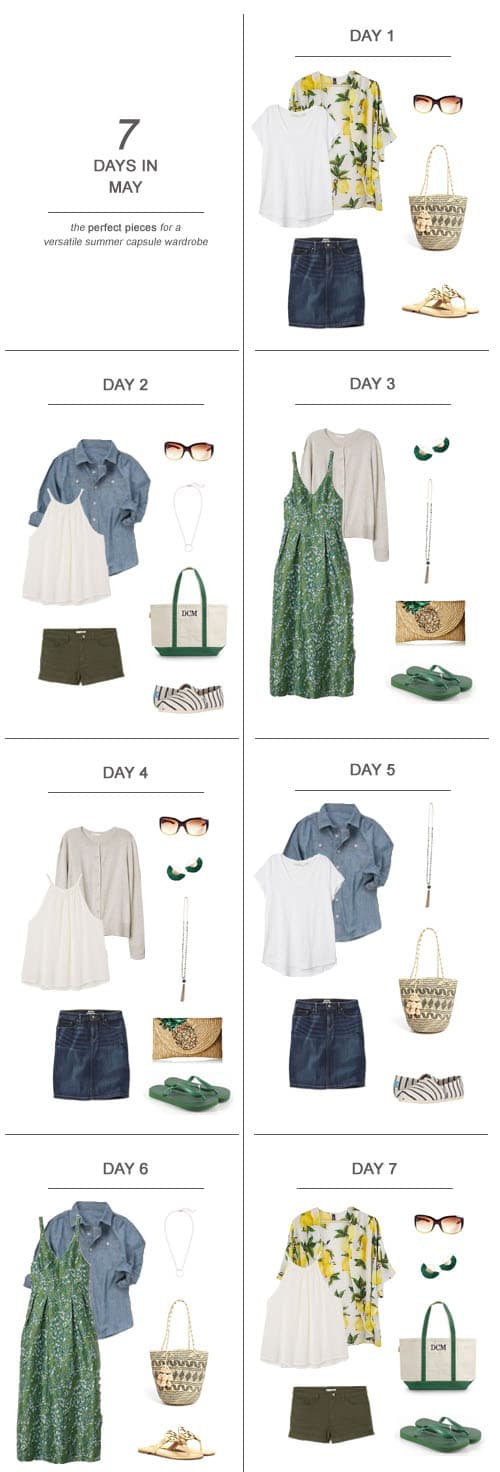7 Days in June : The Perfect Pieces for a Versatile Summer Capsule Wardrobe #ootd #June #summer #capsulewardrobe #sahm