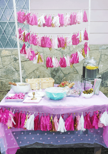 Melanie's Pink and Gold 1st Birthday Party