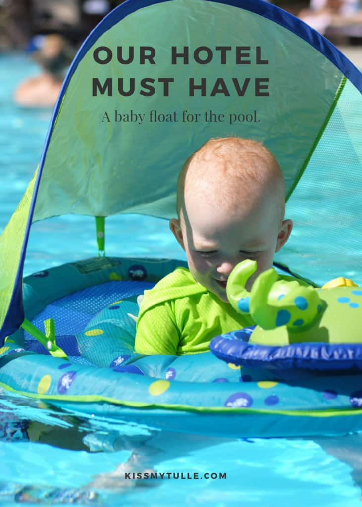 Whenever we travel as a family, my kids are pretty much only interested in one thing - will the hotel we stay in have a pool? My kids are little fish and LOVE to swim so pool and our #SwimWays #BabySpringFloat Activity Center is a hotel must have for us. #SpringFloat #FloatWithSwimWays #IC #ad