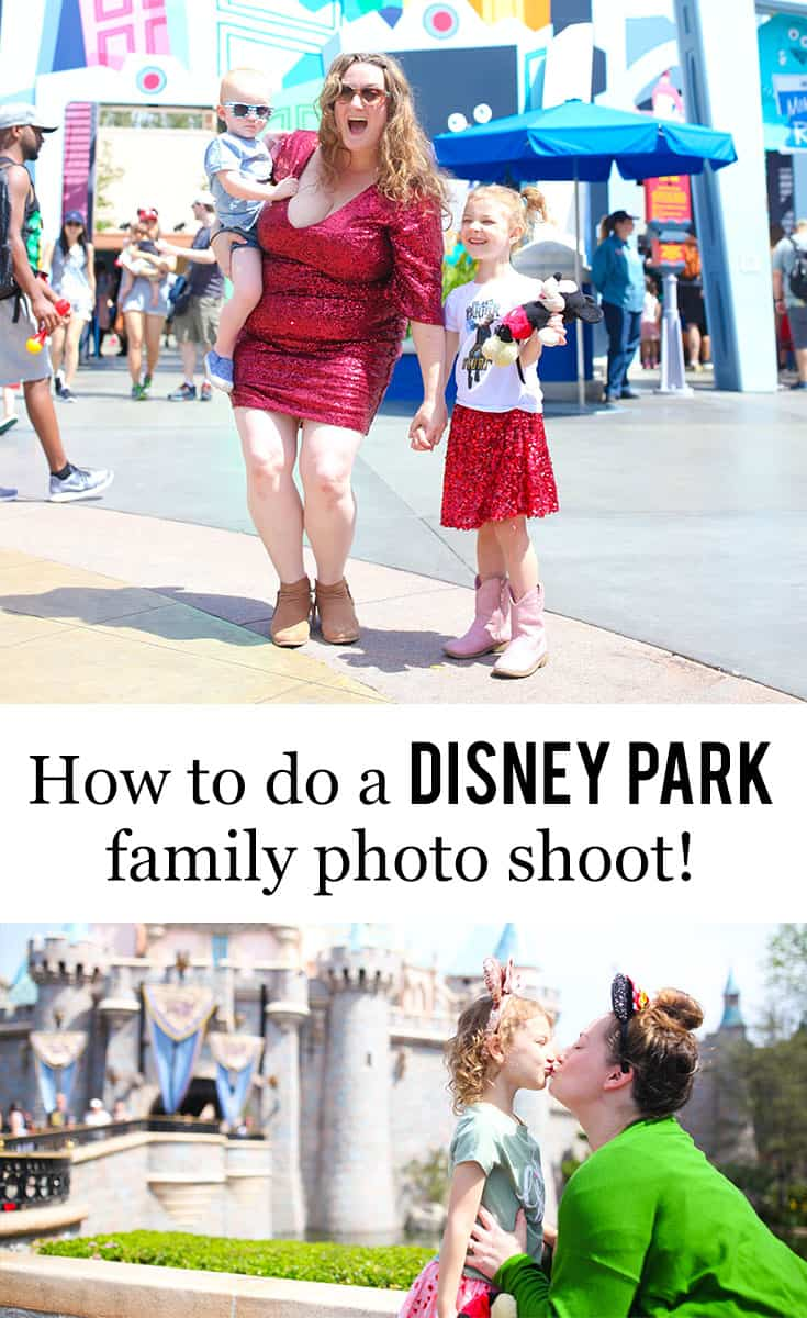 How To Do A #Disney Park Family Photo Shoot >>> Curious about how to do a Disney park family photo shoot? Here's Texas Mom Blogger, Kiss My Tulle's, tips and suggestions for you! #disneyland #waltdisneyworld #dsmmc #tmom #familyphotography