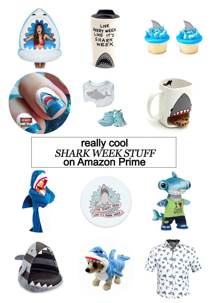 I've pulled together some cool Shark Week stuff that you can get with Amazon Prime RIGHT NOW! #AmazonPrime #SharkWeek