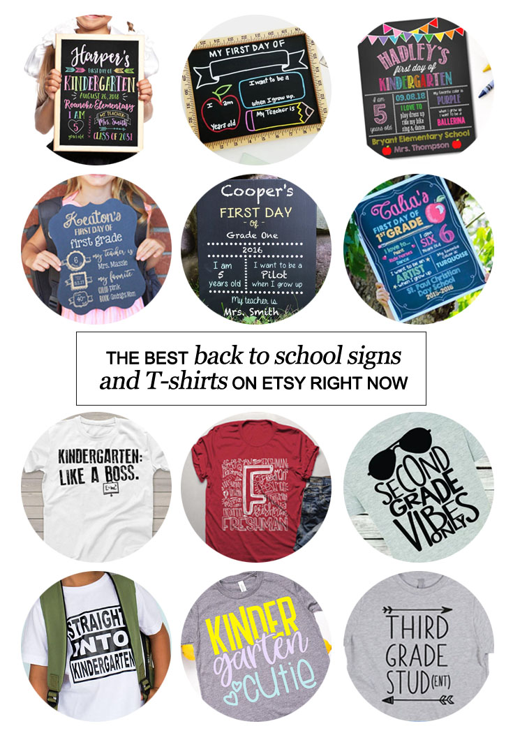 San Antonio lifestyle blogger, Kiss My Tulle, shares the best back to school signs and T-shirts on etsy right now!