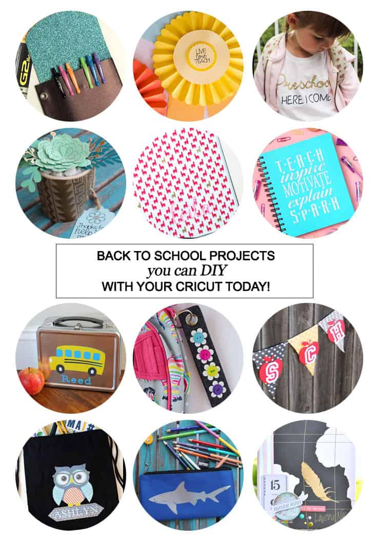 San Antonio lifestyle blogger, Cris Stone, shares 12 back to school projects you can DIY with your Cricut today! Click to find out more!