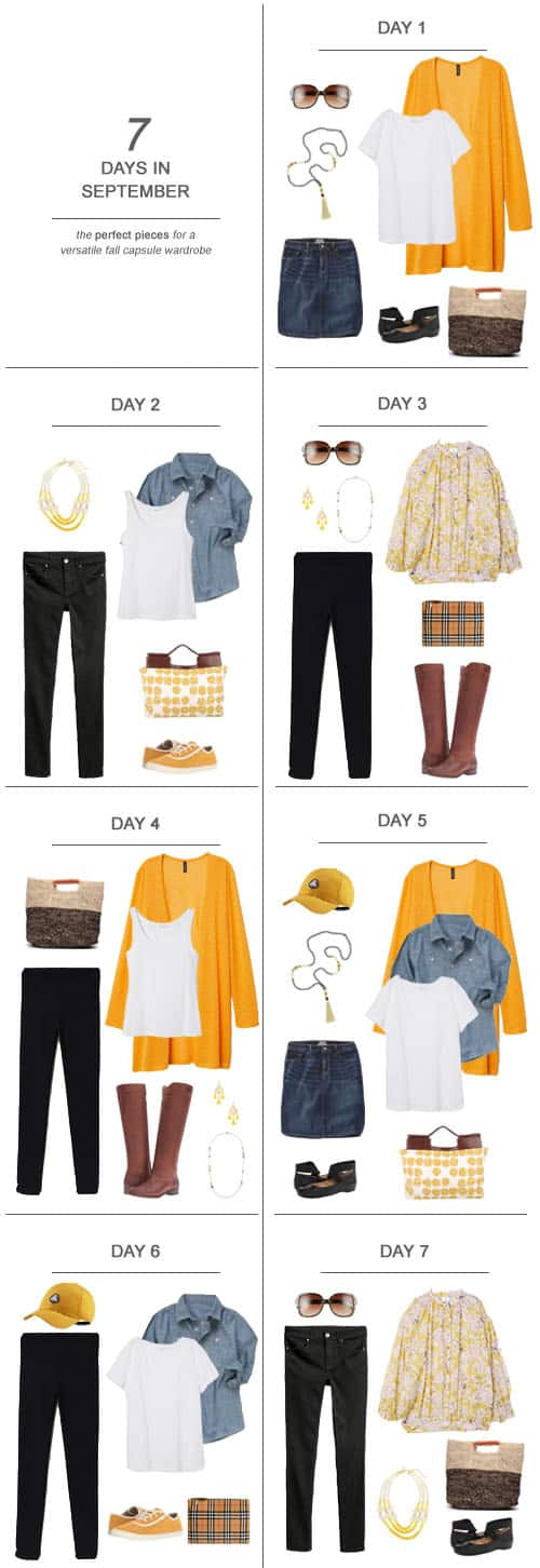 7 Days in September : The Perfect Pieces for a Versatile Fall Capsule Wardrobe #ootd #September #fall #capsulewardrobe #sahm