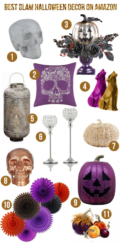 Ready or not... #Halloween is coming. I took a little time to find the best glam Halloween decor on #Amazon so that you can also share in the gorgeous, too! #glam #fall #holiday #decor