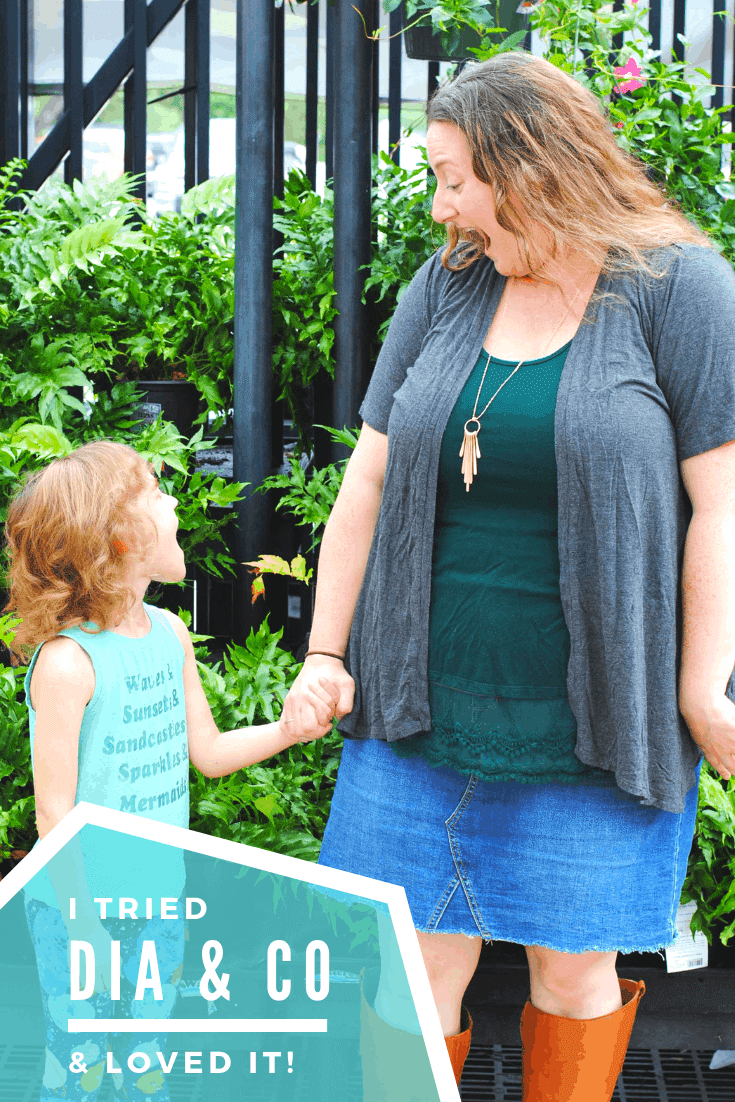 "Dia & Co is a #clothing #subscriptionbox for women sized 14 through 32! Exciting for someone my size, who has a hard time feeling ""normal"" with other shopping options. #fashion #momoutfits #plussized"