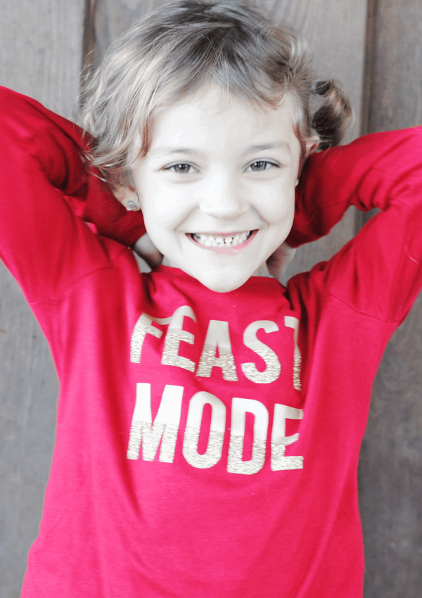 "DIY A ""Feast Mode"" Kid's Thanksgiving T-Shirt"