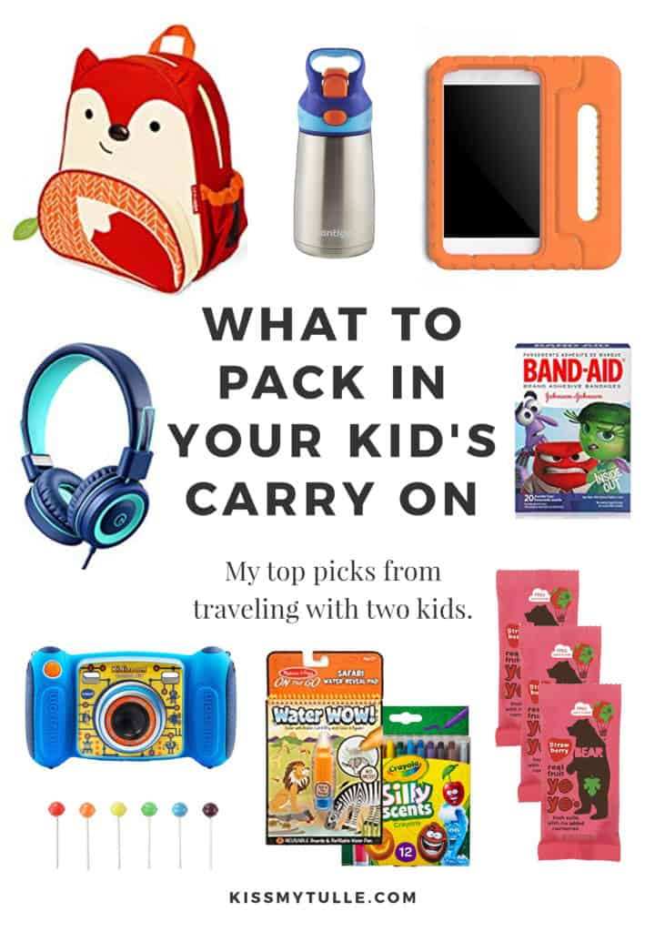 Thanks to the abundance of cheap airfare and all the upcoming holidays, I'm guessing that a lot of you will be flying with your children. After years of trying to entertain two small kids on airplanes, allow Texas Mom Blogger, Kiss My Tulle, to share my thoughts on what to pack in your kid's carry on!